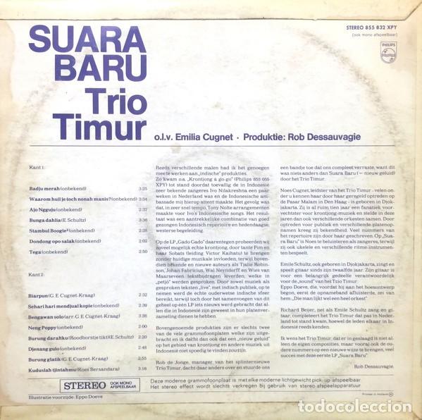 Discos de vinilo: Trio Timur – Suara Baru - Foto 2 - 180328403
