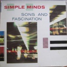 Disques de vinyle: SIMPLE MINDS: SONS AND FASCINATION. Lote 180329497