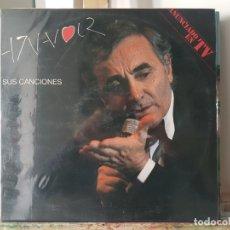 Discos de vinilo: *** CHARLES AZNAVOUR - AZNAVOUR SUS CANCIONES - DOBLE LP AÑO 1990 - LEER DESCRIPCIÓN. Lote 180339032