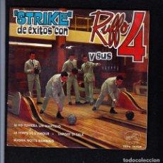 Discos de vinilo: RUFFO Y SUS 4: BEATLES- POP ESPAÑOL IMPOSIBLE DE ENCONTRAR-1964 ROCK. Lote 180339997