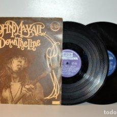 Discos de vinilo: JOHN MAYALL - DOWN THE LINE - DOBLE LP DECCA ESPAÑA 1975 MUY USADO G+/G+. Lote 180342820
