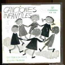 Discos de vinilo: CANCIONES INFANTILES CATALANAS COLUMBIA 1964. Lote 180389735