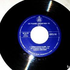 Discos de vinilo: MUSICA SINGLE: LOS PÁJAROS CANTAN PARA UD. VOL. 4. CANARIO TIMBRADO ESPAÑOL. Lote 180391470