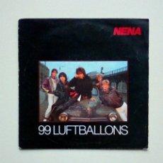 Discos de vinilo: NENA - 99 LUFTBALLONS / ICH BLEIB' IM BETT, CBS, 1983. HOLLAND.. Lote 226234915