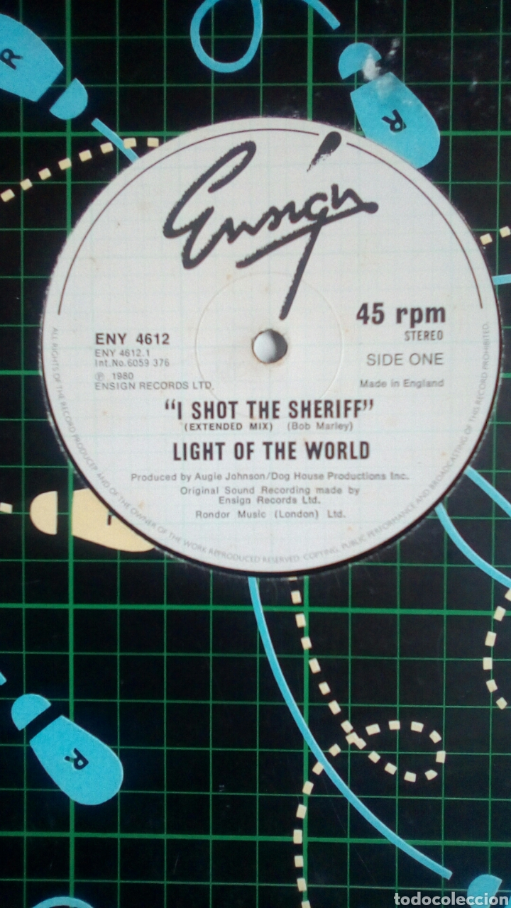 Discos de vinilo: Light Of The World - I shot the sheriff / Painted Lady / A New... , Ensign Records, 1980. England. - Foto 2 - 180403103