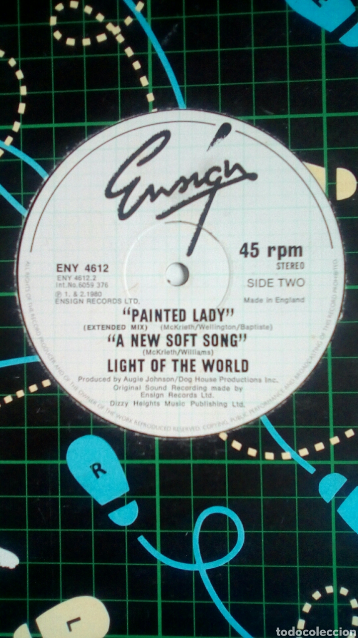 Discos de vinilo: Light Of The World - I shot the sheriff / Painted Lady / A New... , Ensign Records, 1980. England. - Foto 3 - 180403103