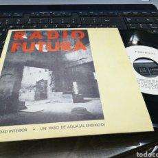 Discos de vinil: RADIO FUTURA SINGLE PROMOCIONAL LA CIUDAD INTERIOR 1985. Lote 180403113
