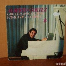 Discos de vinilo: ALBERTO CORTEZ - CADA CUAL BUSCA SU ROSA - VIDALA DE LA COPLA - SINGLE. Lote 221538562