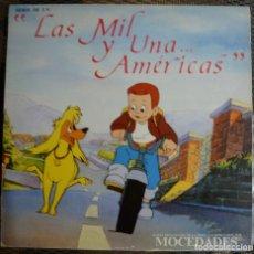Discos de vinilo: MOCEDADES - LAS MIL Y UNA...AMERICAS (LP F.P. RECORDS 1989) VINILO COMO NUEVO. Lote 180405905
