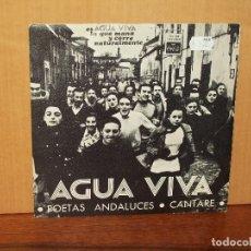 Discos de vinilo: AGUA VIVA - POETAS ANDALUCES - CANTARE - SINGLE . Lote 180406413