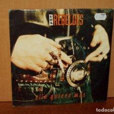 Discos de vinilo: LOS REBELDES - ELLA QUIERE MAS - SINGLE DE 1 SOLA CANCION POR UNA CARA . Lote 180406592