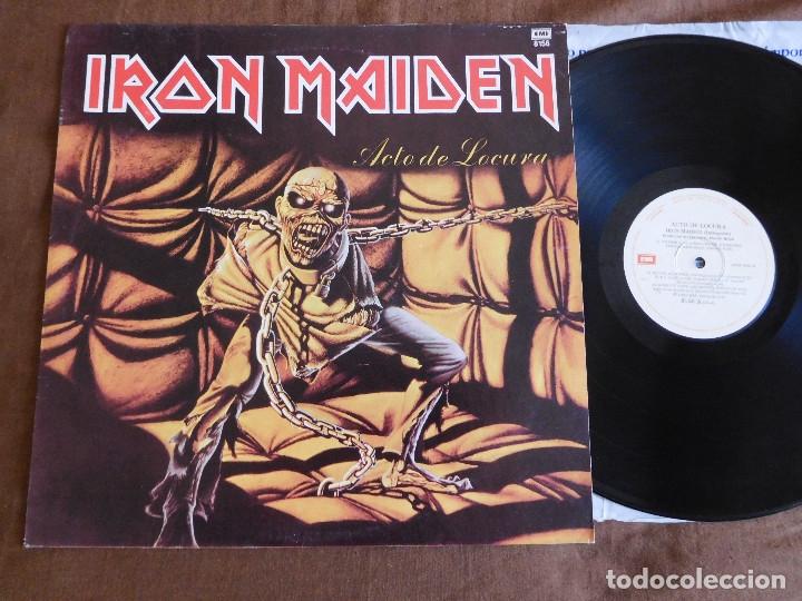 IRON MAIDEN LP PIECE OF MIND EDICIÓN ARGENTINA 1983 ACTO DE LOCURA (Música - Discos - LP Vinilo - Heavy - Metal)
