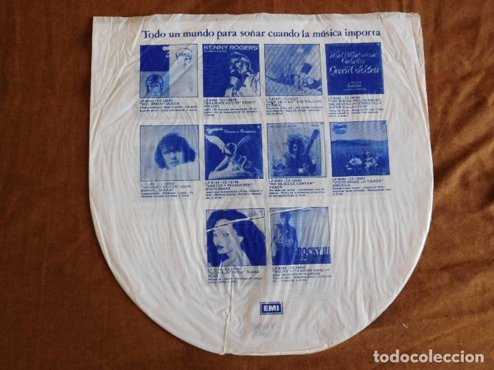 Discos de vinilo: Iron Maiden LP Piece of mind edición Argentina 1983 Acto de locura - Foto 4 - 180407343