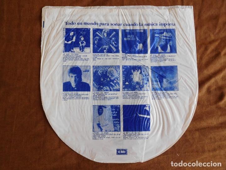 Discos de vinilo: Iron Maiden LP Piece of mind edición Argentina 1983 Acto de locura - Foto 5 - 180407343