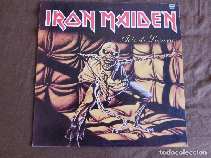 Discos de vinilo: Iron Maiden LP Piece of mind edición Argentina 1983 Acto de locura - Foto 6 - 180407343