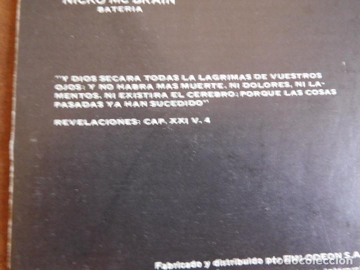 Discos de vinilo: Iron Maiden LP Piece of mind edición Argentina 1983 Acto de locura - Foto 8 - 180407343