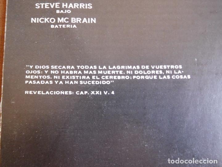 Discos de vinilo: Iron Maiden LP Piece of mind edición Argentina 1983 Acto de locura - Foto 9 - 180407343