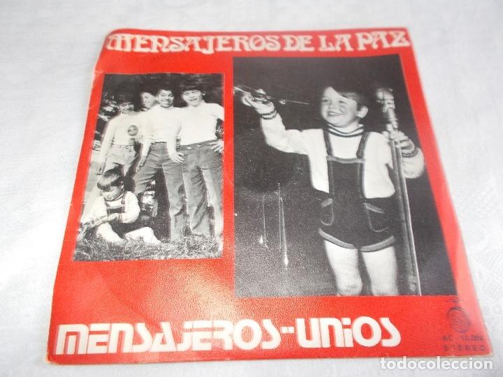 MENSAJEROS POR LA PAZ MENSAJEROS UNIOS (Música - Discos de Vinilo - Maxi Singles - Música Infantil)