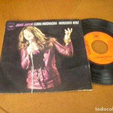 Discos de vinilo: 7'' : JANIS JOPLIN / MERCEDES BENZ + 1 RARO SPAIN 1971. Lote 180416133