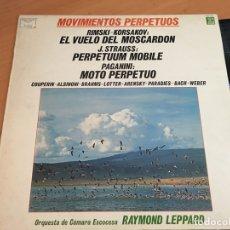 Discos de vinilo: RAYMOND LEPPARD (MOVIMIENTOS PERPETUOS KORSAKOV STRAUSS PAGANINI) LP ESPAÑA 1982 (B-7). Lote 180421995