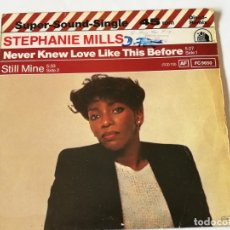 Discos de vinilo: STEPHANIE MILLS - NEVER KNEW LOVE LIKE THIS BEFORE - 1980. Lote 180423497