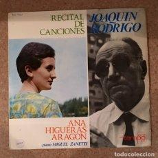Discos de vinilo: JOAQUÍN RODRIGO - ANA HIGUERAS ARAGÓN . Lote 180423676