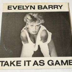 Discos de vinilo: EVELYN BARRY - TAKE IT AS A GAME - 1984. Lote 180424282