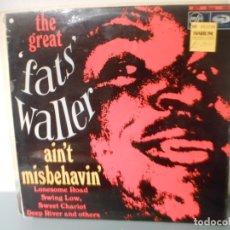 Discos de vinilo: THE GREAT FAST WALLER - AIN'T MISBEHAVIN'. Lote 180427455