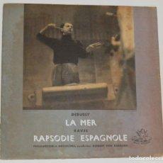 Discos de vinilo: KARAJAN / DEBUSSY - LA MER / RAVEL - RAPSODIE ESPAGNOLE - ANGEL RECORDS. Lote 180444287