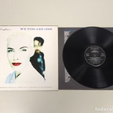 Discos de vinilo: JJ10- EURYTHMICS WE TOO ARE ONE LP ESP 1989 VIN POR VG +/++ DIS NM . Lote 180445976