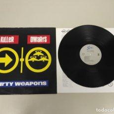 Discos de vinilo: JJ10- KILLER DWARFS DIRTY WEAPONS 1990 LP VIN POR VG ++ DIS NM. Lote 180447593