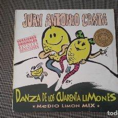 Discos de vinilo: JUAN ANTONIO CANTA DANZA DE LOS CUARENTA LIMONES-MEDIO LIMON MIX.MAXI. Lote 180448407