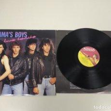 Discos de vinilo: JJ10- MAMA S BOYS LIVE TONITE UK 1991 LP VIN POR VG +/++ DIS VG +/++. Lote 180453980