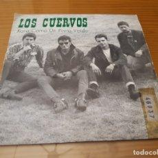Discos de vinilo: DISCO VINILO SINGLE LOS CUERVOS. Lote 180455383