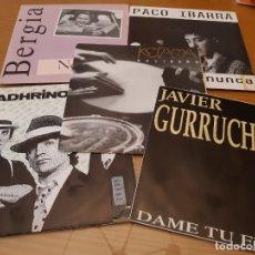 Discos de vinilo: LOTE DE 5 DISCOS VINILO SINGLE GRUPOS Y SOLISTAS ESPAÑOLES DE LOS 80. Lote 180457435