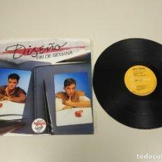 Discos de vinilo: JJ10- DISEÑO FIN DE SEMANA MINI ALBUM ESP 1983 VIN POR VG + DIS VG ++. Lote 180457692