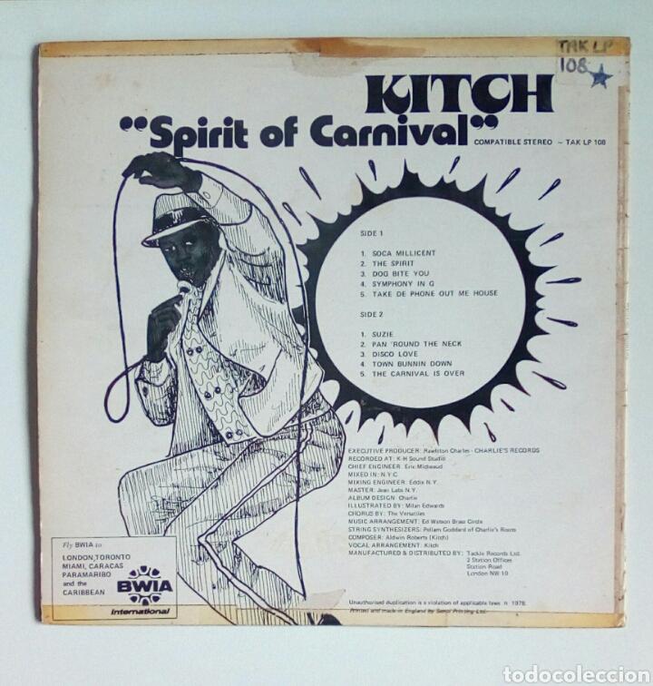 Discos de vinilo: Kitch - Spirit of carnaval, Tackle, 1978. England. - Foto 2 - 180458147