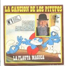 Discos de vinilo: CANCION DE LOS PITUFOS . PADRE ABRAHAM. CARNABY 1978. SP. Lote 180458851