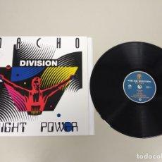 Discos de vinilo: JJ10- NACHO DIVISION NIGHT POWER LP ESP VIN POR VG ++ DIS VG ++. Lote 180459160
