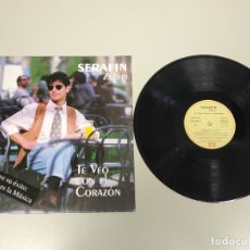 Discos de vinilo: JJ10- SERAFIN ZUBIRI TE VEO CON EL CORAZON ESP 1992 LP VIN POR VG ++ DIS NM . Lote 180460537