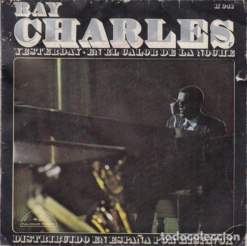 RAY CHARLES - YESTERDAY - SINGLE ESPAÑOL DE VINILO # (Música - Discos - Singles Vinilo - Funk, Soul y Black Music)