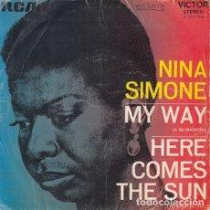 Discos de vinilo: NINA SIMONE - MY WAY - SINGLE ESPAÑOL DE VINILO #. Lote 180461551