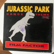 Discos de vinilo: FILM FACTOR - JURASSIC PARK DANCE THEME - 12'' MAXISINGLE METROPOL 1993. Lote 180461780