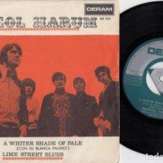 Discos de vinilo: PROCOL HARUM - CON SU BLANCA PALIDEZ - SINGLE ESPAÑOL DE VINILO #. Lote 180462100