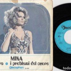 Discos de vinilo: MINA - UN'OMBRA - SINGLE ESPAÑOL DE VINILO #. Lote 180462322