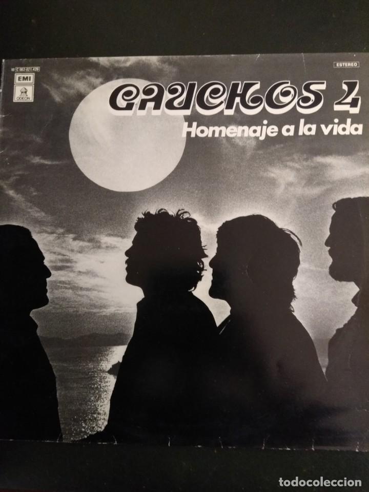 LP GAUCHOS 4 HOMENAJE A LA VIDA (Música - Discos - LP Vinilo - Grupos y Solistas de latinoamérica)