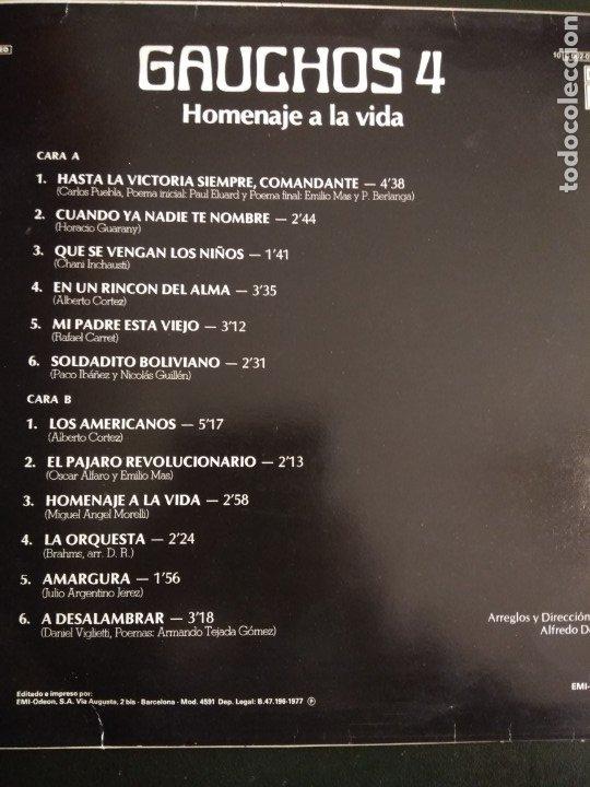 Discos de vinilo: LP Gauchos 4 Homenaje a la vida - Foto 2 - 193819191