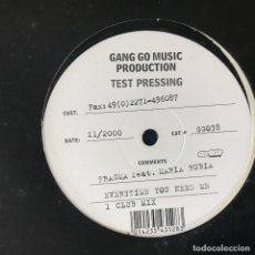 Discos de vinilo: FRAGMA FEAT. MARIA RUBIA - EVERYTIME YOU NEED ME - 12'' MAXISINGLE GANG GO 2000 TEST PRESSING. Lote 180472547