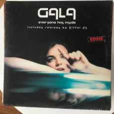 Discos de vinilo: GALA - EVERYONE HAS INSIDE - 12'' MAXISINGLE VALE 2000. Lote 180474356