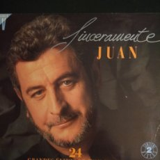 Discos de vinilo: LP DOBLE JUAN PARDO - SINCERAMENTE JUAN. Lote 180475598
